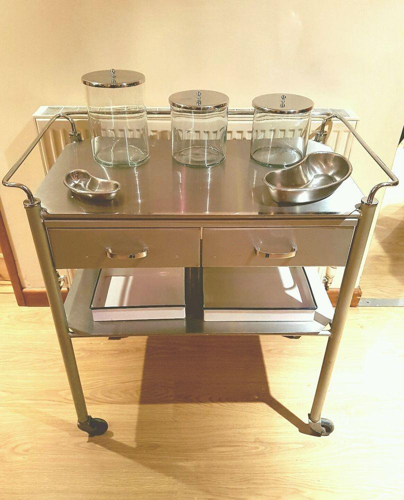 vintage medical trolley or drinks or bathroom storage / bar ...