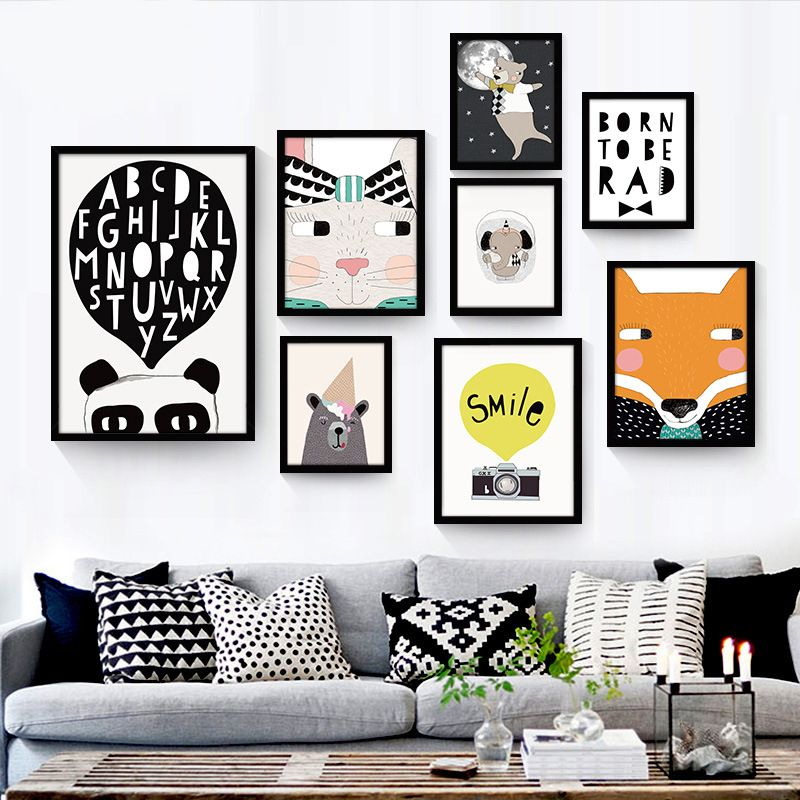 Cheap posters and prints, Buy Quality animal canvas painting ...