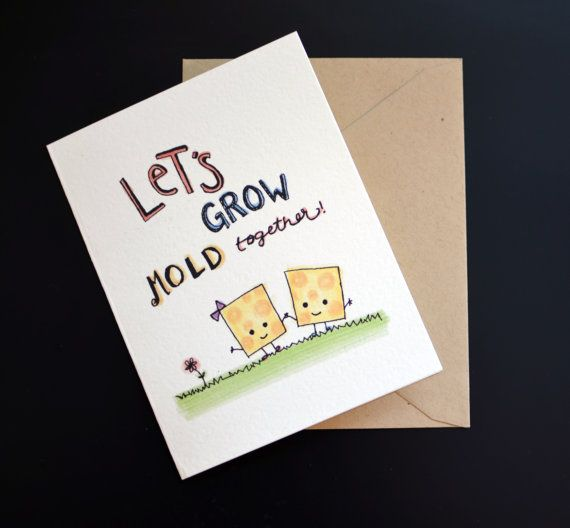 Cheesy Valentines Day or Anniversary Greeting Card Cheese Lovers – Clever Valentines Cards
