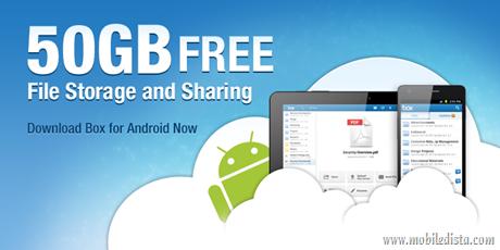 Box.net ใจดี แจกพื้นที่ 50GB ฟรี สำหรับผู้ใช้ Android ทุกคน