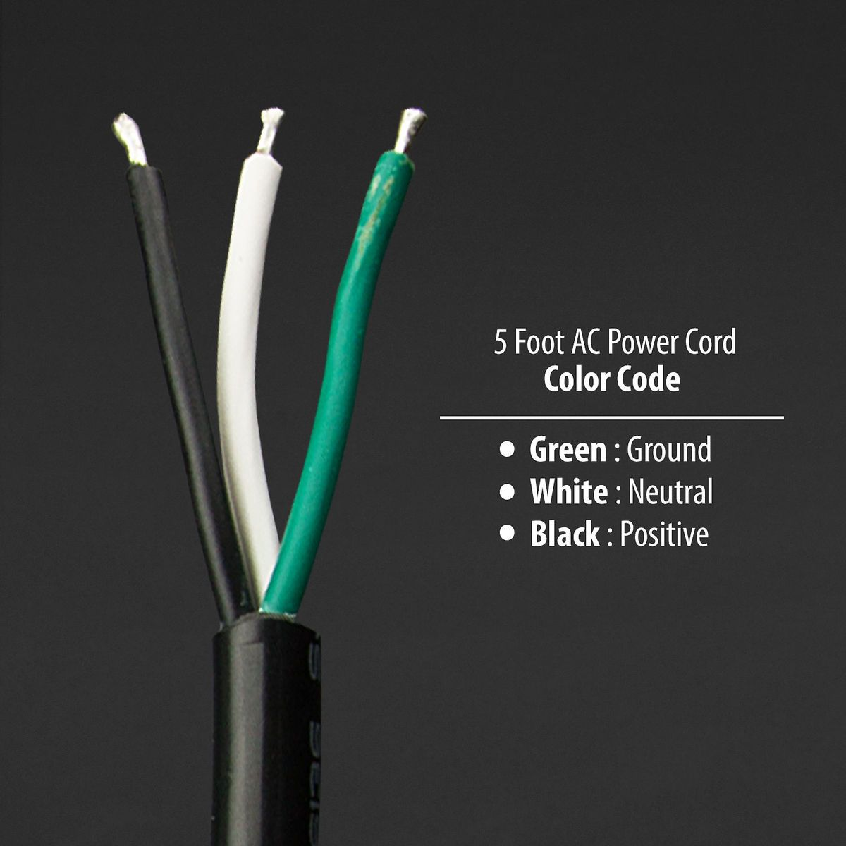 5 Feet Ac Power Cord In 2020 Electrical Wiring Colours Black And Red Diagram Design
