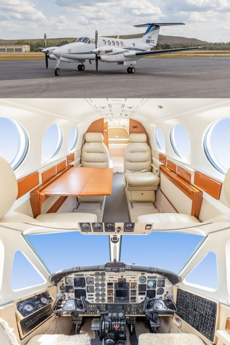 1984 King Air 300 FOR SALE! Private jet interior