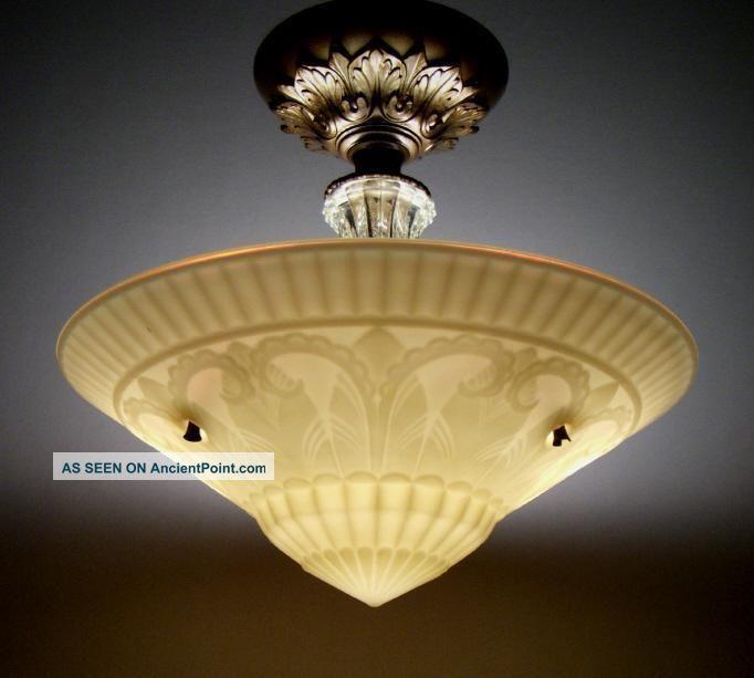 Antique Victorian Art Deco Semi Flush Mount Vintage Ceiling Lamp Light Fixture Cha Vintage Ceiling Light Fixtures Antique Ceiling Lights Vintage Ceiling Lights Vintage ceiling lighting fixtures