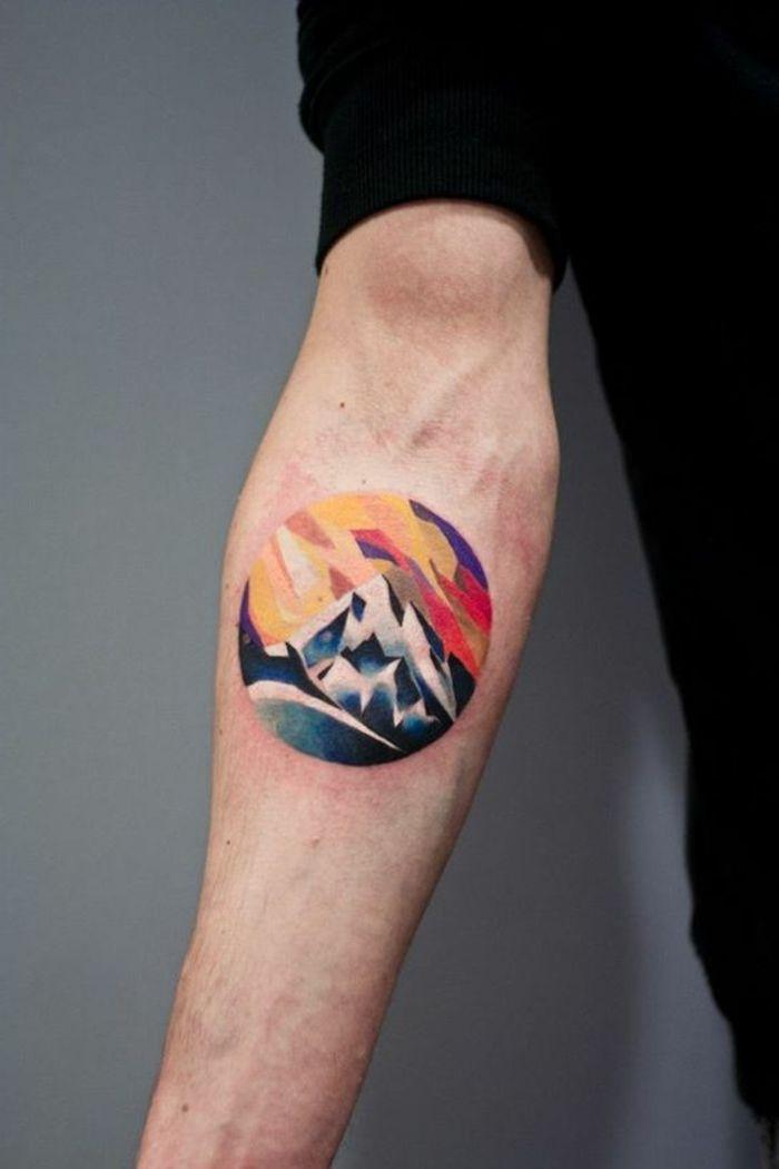 ▷ 1001 + dessins originaux de tatouage montagne