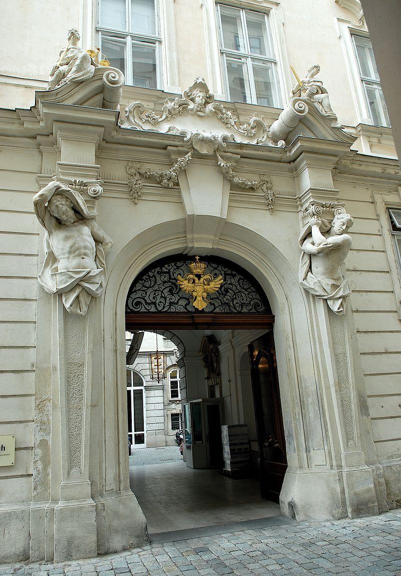 Hofburg Imperial Palace, Vienna - Portal former Boehmische Hofkanzlei