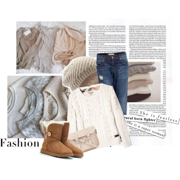 UGG outfit with casual jeans and pretty white sweater   Fashion ...