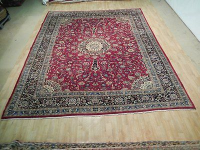 DEEP RED 10' x 12' Original Eye-Catching Designed Rug OLD Persian Sheik Safi