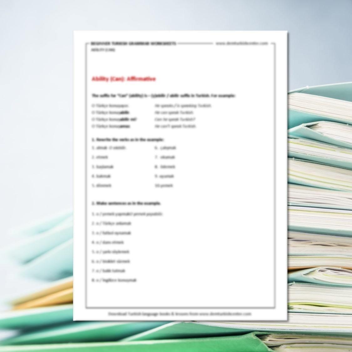 Turkish Grammar Worksheets