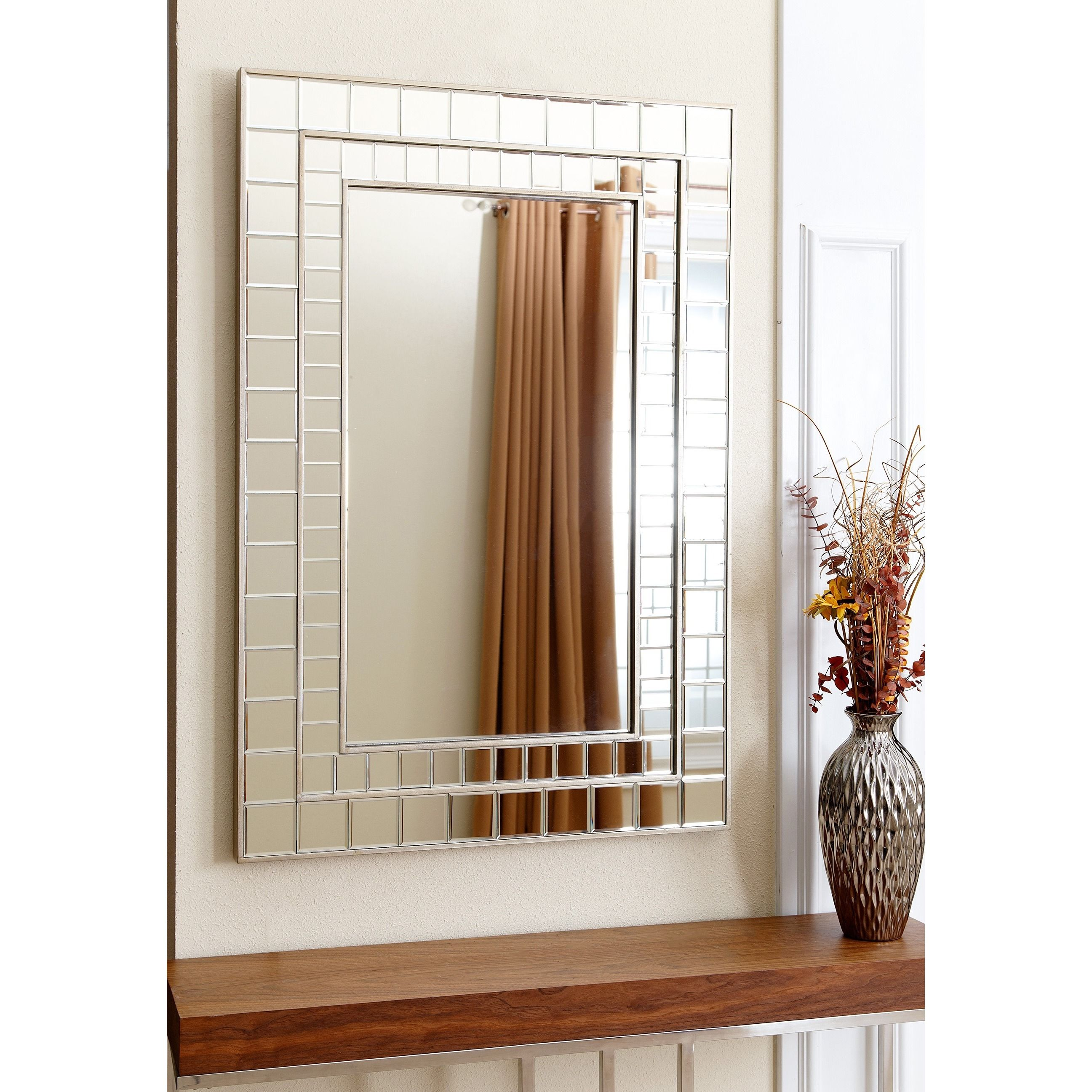 Abbyson Colby Rectangle Wall Mirror By Abbyson