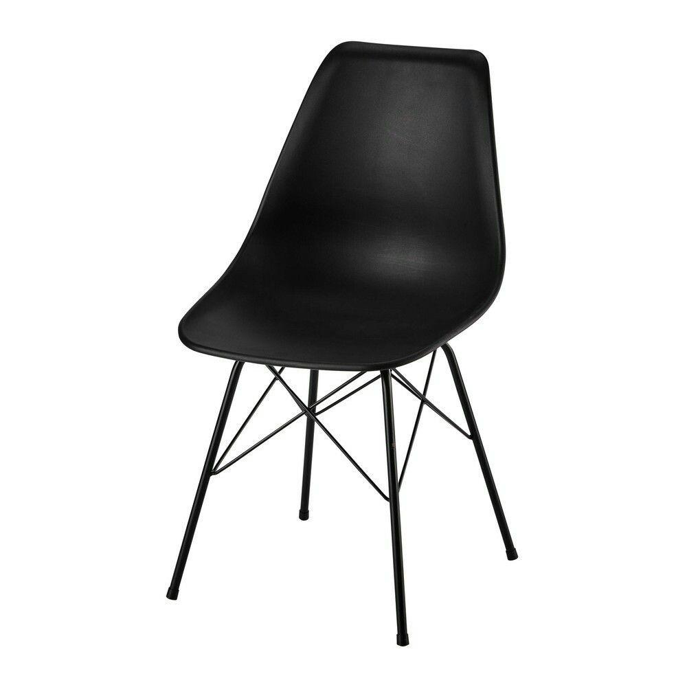 Stuhl Aus Polypropylen Und Metall Schwarz Cardiff