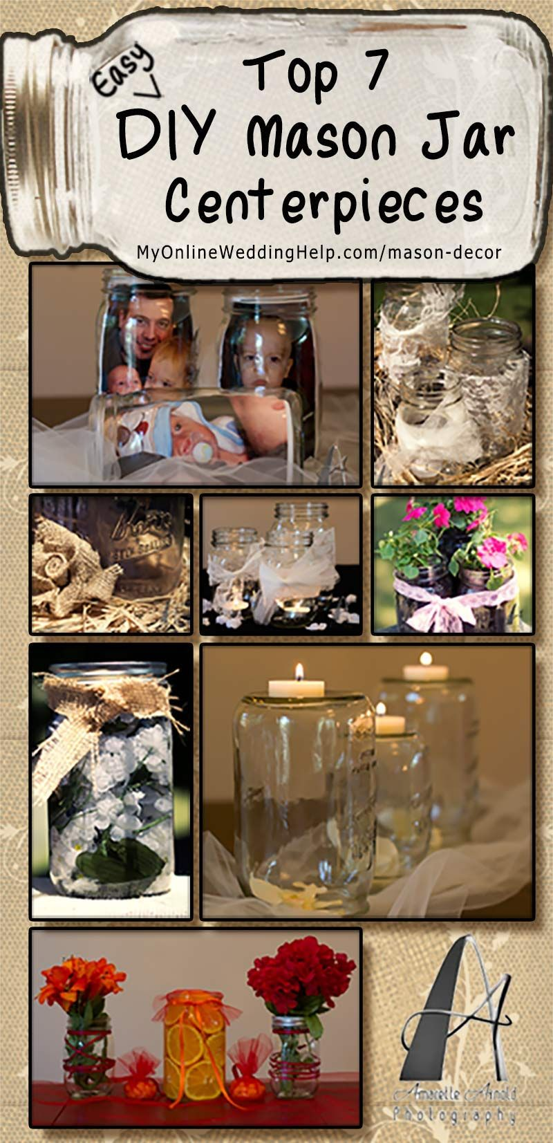 Top easy diy mason jar decorations my online wedding help
