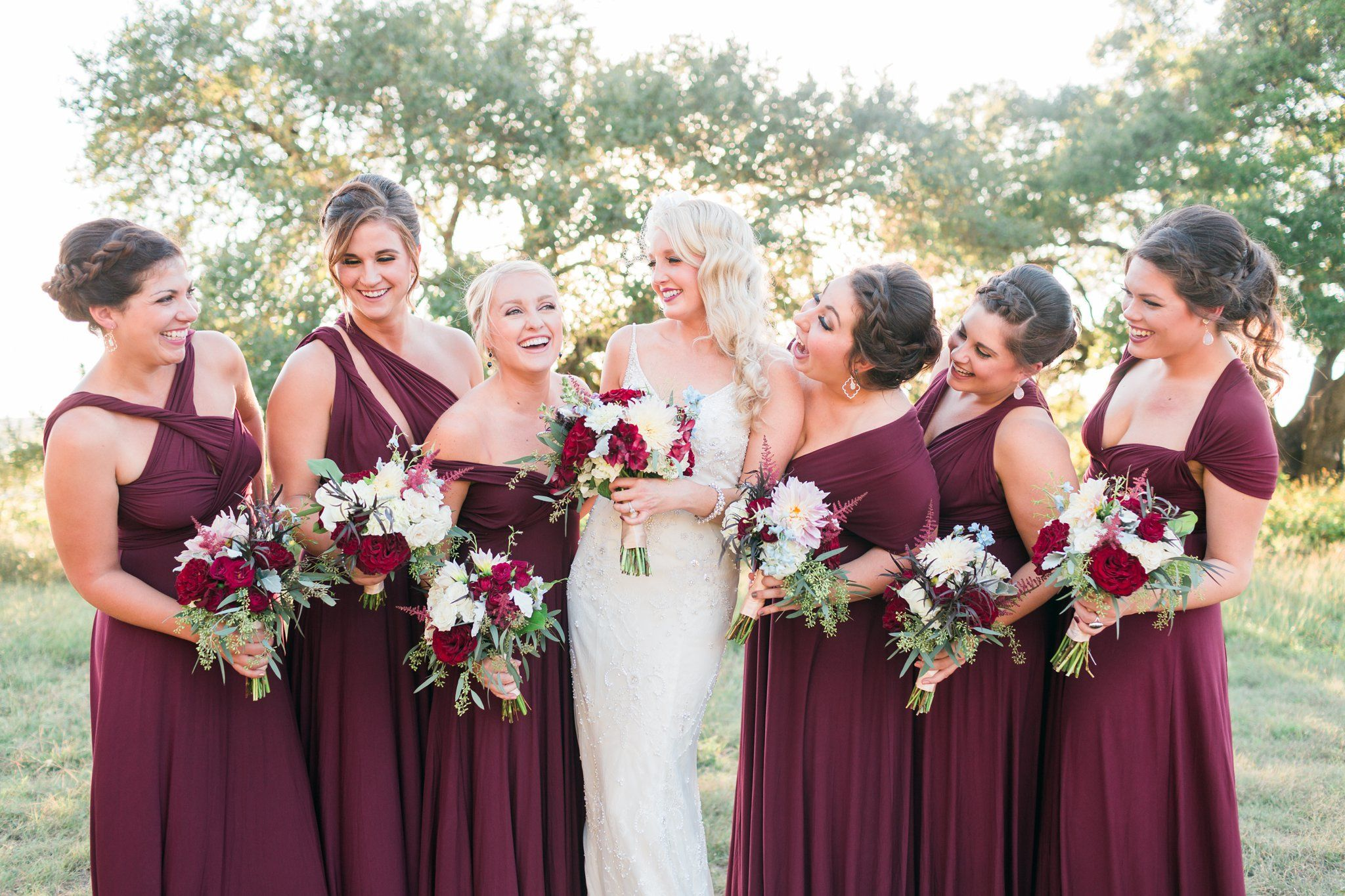 Austin wedding thurmans mansion dripping springs burgundy austin wedding thurmans mansion dripping springs burgundy lulus bridesmaids wrap dresses austin wedding ombrellifo Image collections