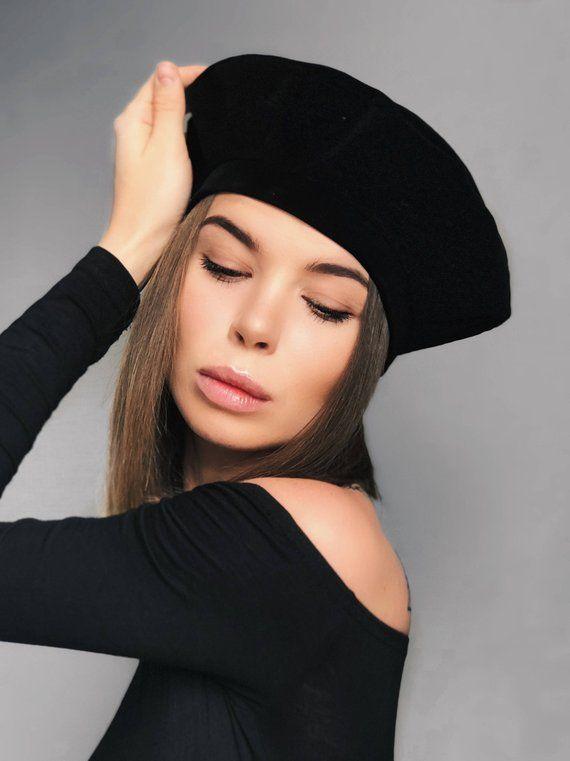 fdd5019d1933ac black velvet beret, black beret, velvet beret, black headdress, black hat, beret  hat, berets, beret