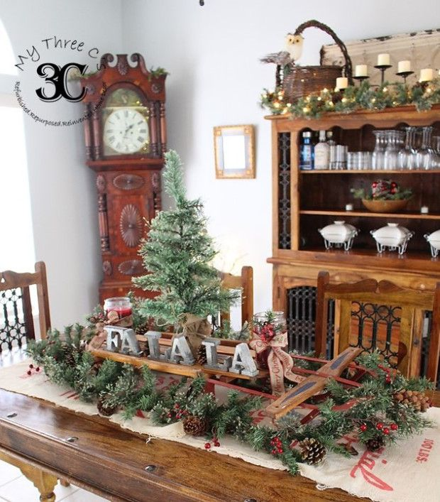 Rustic European Christmas Home Decor Antique Vintage Thrift