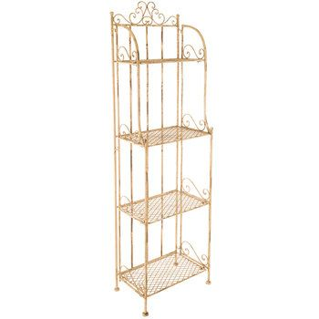 Get Antique White 4 Tier Metal Baker 39 S Rack Online Or Find Other Furniture Products From Hobbylobby Com Bakers Rack Antiques Antique White