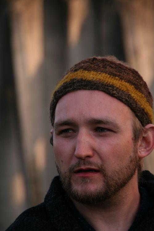 Kinda want to make (okay, dye yarn for) this hat. Ribe Viking market in 2012 (Viking Average)