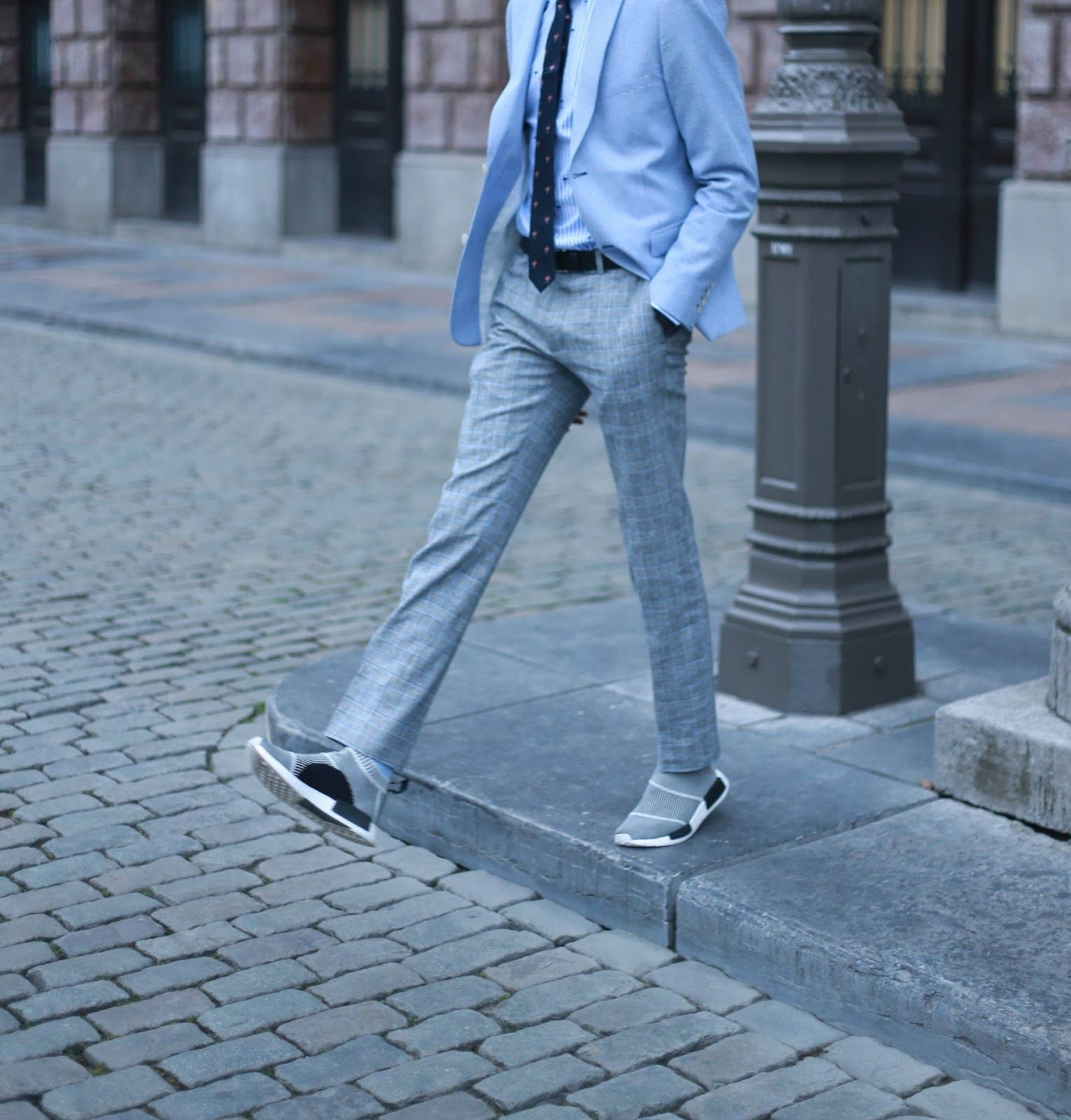 Business Chic Men 39 S Look We Fashion Adidas Nmd Sneakers Suits And Sneakers Street Style