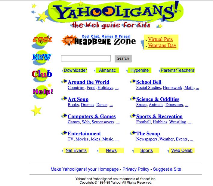 Yahooligans! 90s Web