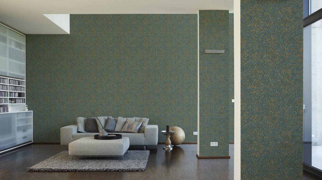 AS Création Tapete 960471; simuliert auf der Wand Orange - moderne tapeten für wohnzimmer