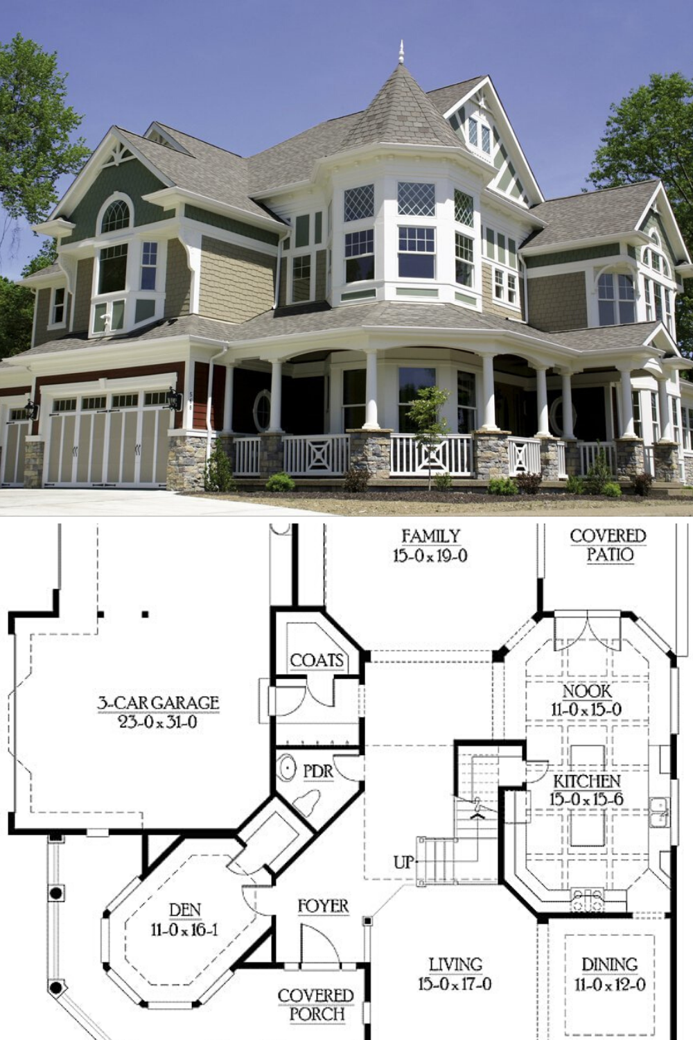 4 Bedroom Two Story Luxurious Victorian Home Floor Plan In 2020 Victorian House Plans Victorian Homes House Plans Mansion