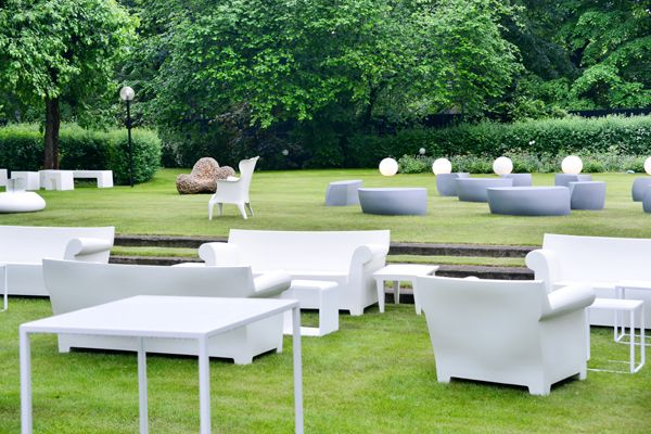 BUBBLE CLUB FOTEL WHITE Fotel | Design Philippe Starck Firmy Kartell +  BUBBLE CLUB SOFA WHITE