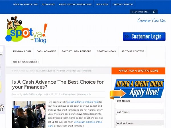 How can you tell if a cash advance online is right for you? You will have to dig down into your budget and find out. The short-term loans are not right for every user. There are people who have fallen deeper into debt by using them. Some budget situations are not set up for success when using cash advance online loans or any other short-term loan.