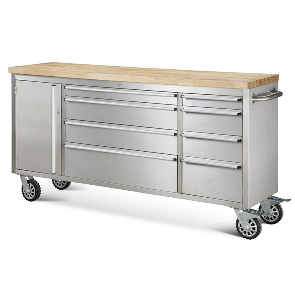 """Unique Rolling Kitchen Cabinet: 72"""" 8 Drawer Rolling Metal Tool Chest"""