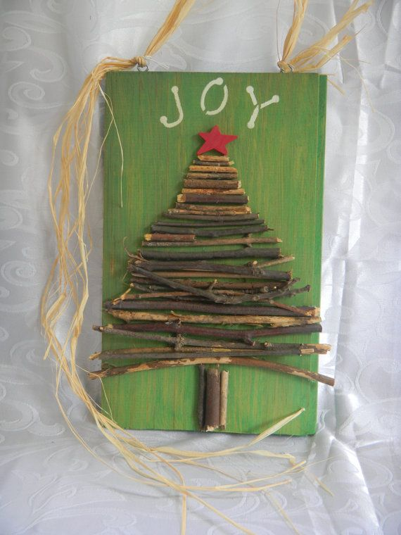JOY Christmas Tree sign by TheRusticBumblebee on Etsy