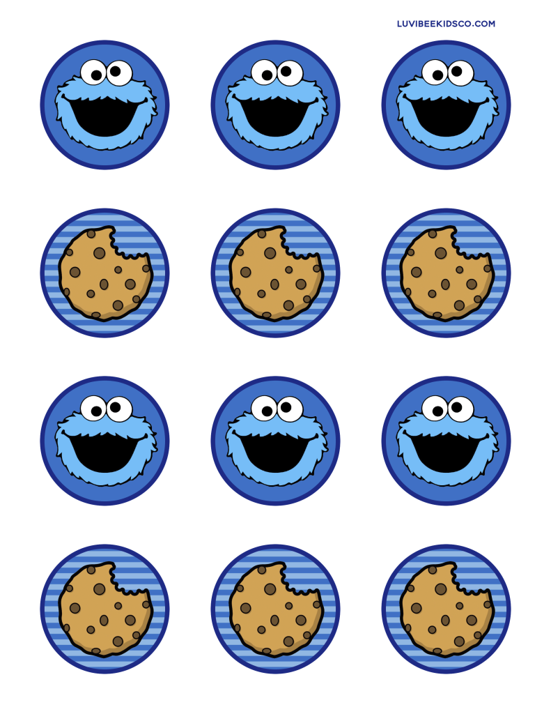 LKco_CookieMonsterCircles_Print.jpg - Box | dylans first birthday ...