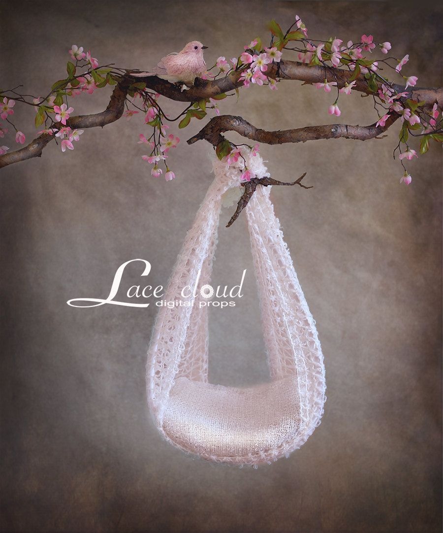 Digital newborn backdrop prop newborn vintage flower pink swing girl digital photography background 141 by lacecloudstudio on etsy