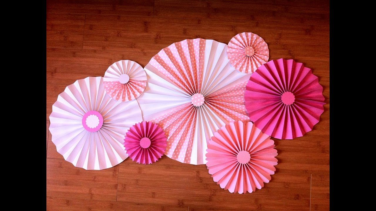 How To Make A Decoration Paper Rosette Life Crafts Activities For