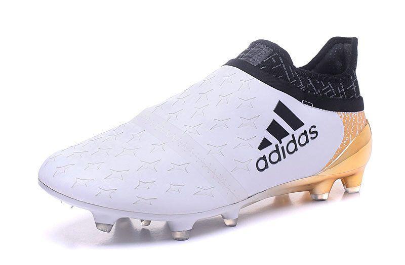 official photos 51eb7 5ecb3 Adidas X 16 Purechaos FG AG 2018 World Cup Football Boots White Black Golden