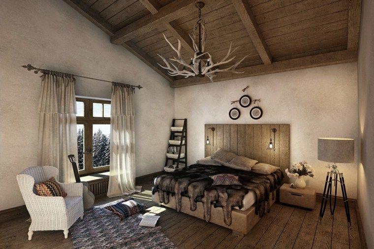 Déco chalet montagne : une centaine d\'idées pour la chambre à ...