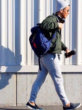 Ron Herman ロン ハーマン のニットキャップ ビーニー グレー系 を使ったコーディネート一覧 Wear メンズファッション ビーニー ニットキャップ