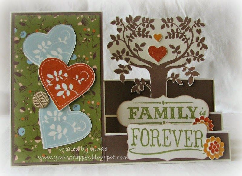 Family is Forever - August 2014 SOTM   Created by GinaB  www.gmbscrapper.blogspot.com  SHOP AT:  www.stampinheaven.ctmh.com