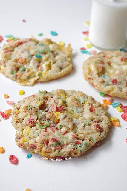 Momofuku Fruity Pebbles Cookies American Cupcake Life Recipe Fruity Pebble Cookies Momofuku Recipes Milk Bar Recipes