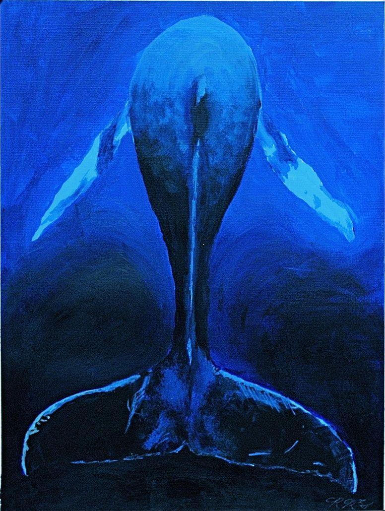 Monochromatic whale art