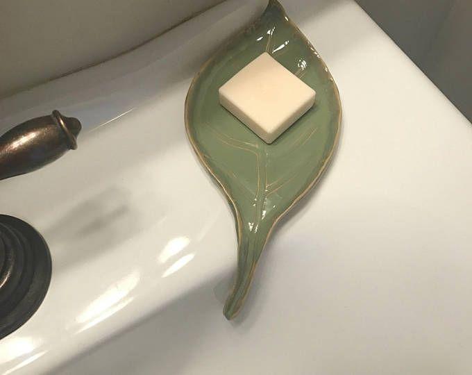 Self Draining Soap Dish, Draining Dish, Soap Dish, Ceramic Soap Saver in Bone