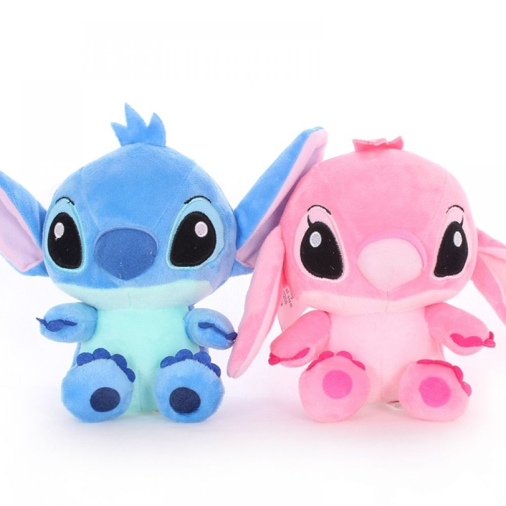 2pcs 18cm High quanlity Stitch Plush Toys for kids Stuffed animals Anime Lilo and Stitch creative Valentine's Day birthday gifts