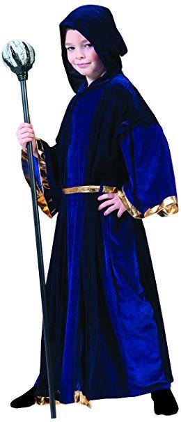 Confettery Jungen Karneval Halloween Merlin Zauberer Kostum Set