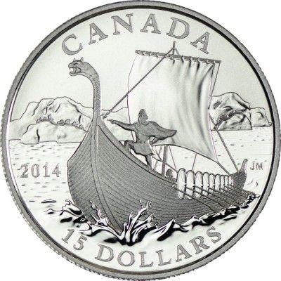 15 Dollar Silber Kanada Erforschen Die Wikinger Pp Wikinger