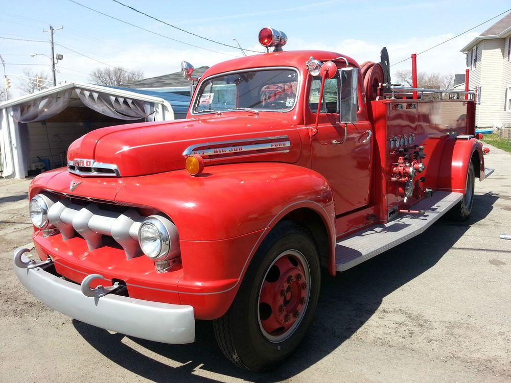 1951 Ford F 7 Fire Truck Fire Trucks Trucks Fire