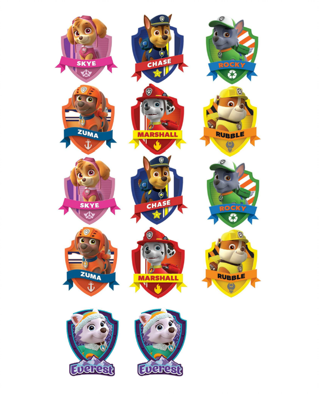 image about Printable Paw Patrol named Absolutely free PRINTABLE PAW PATROL BADGES Tailor made Present WRAP House