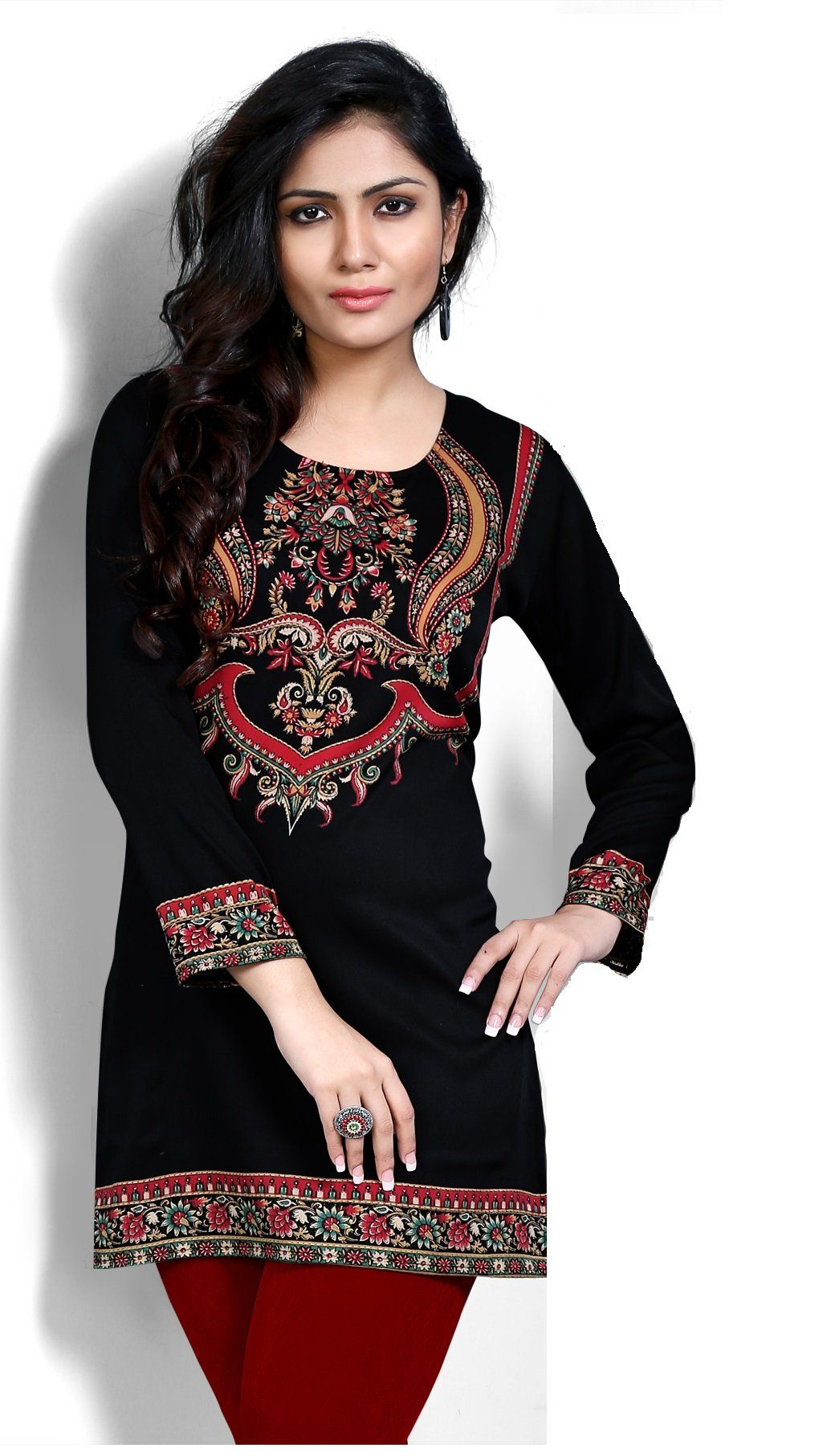 9188bbd3322 T912XL Indian Tunic Top Womens Kurti Printed Blouse India Clothing ...