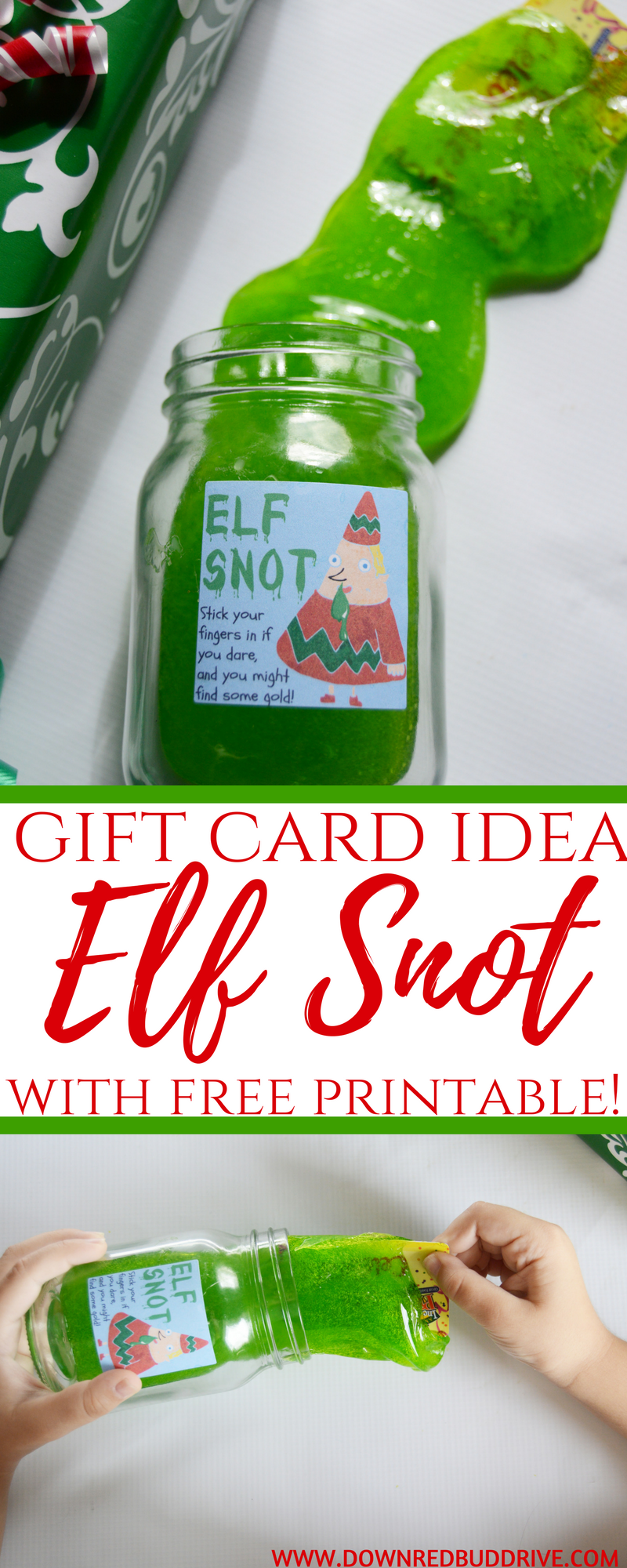Elf Snot | Gift Card Gifts | Christmas DIY