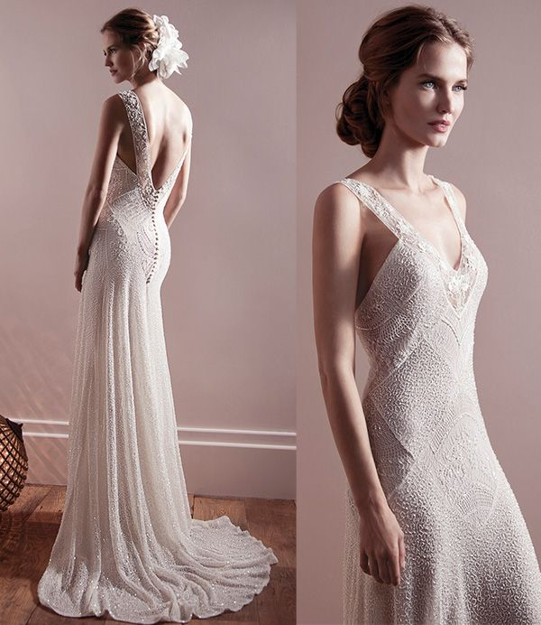 Modern brides top dramatic and intricate back designs of for Modern vintage lace wedding dress