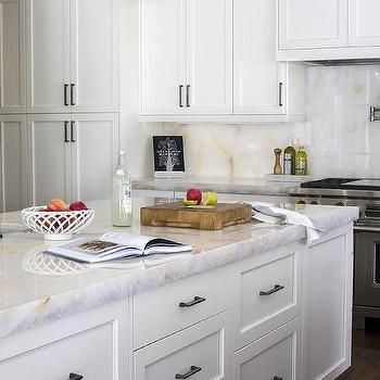 Gold And White Onyx Countertops