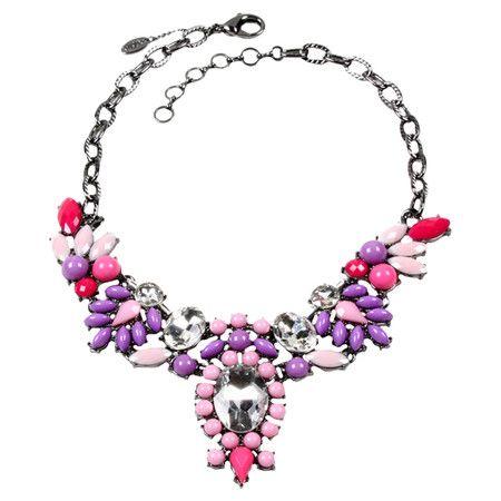 Sophia Necklace in Pink & Purple