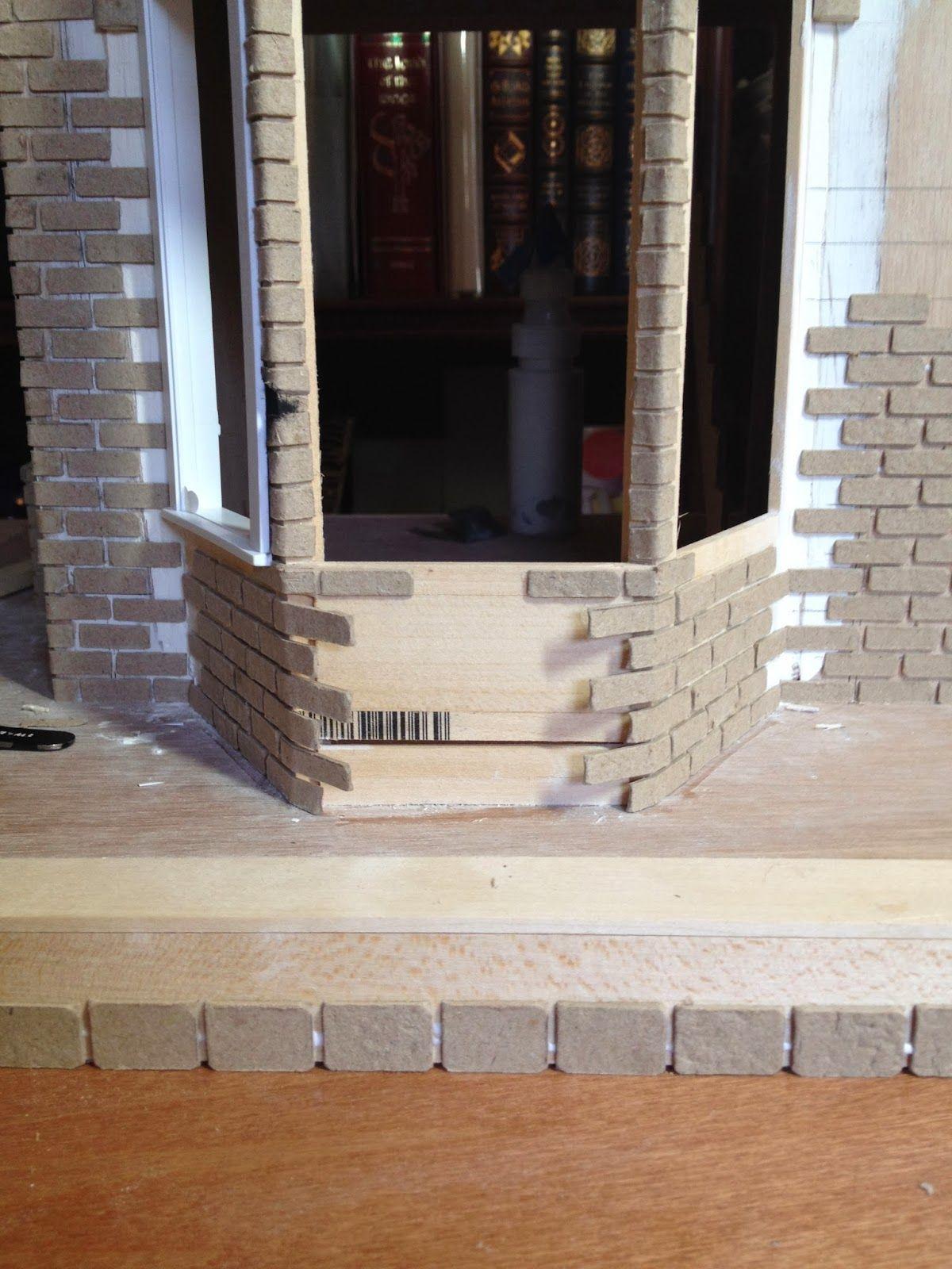 Tips And Tricks: Bricking An Entire Miniature Facade. Puppenstube HausbauModellModerne ...