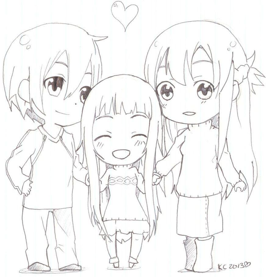sword_art_online__sao__chibi_family_by_kitsune_kari ...